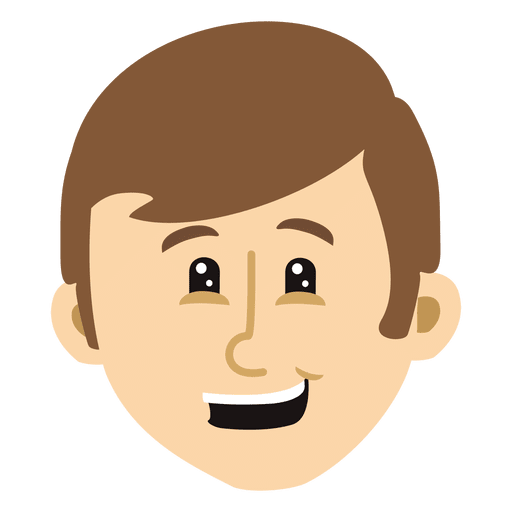 Boy cartoon head 8 Transparent PNG