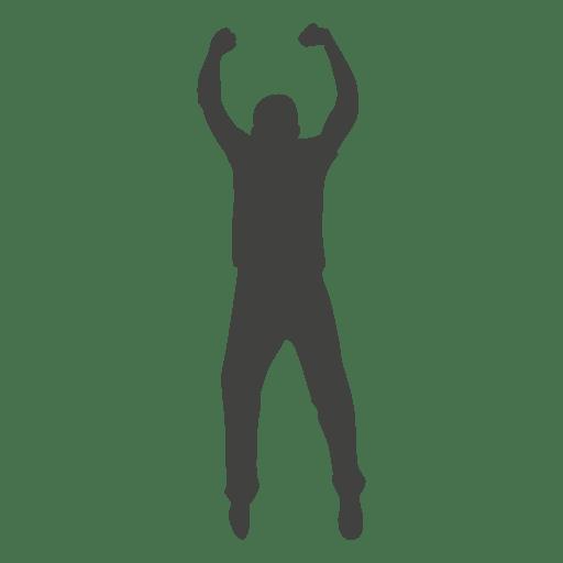 Boy celebrating silhouette Transparent PNG