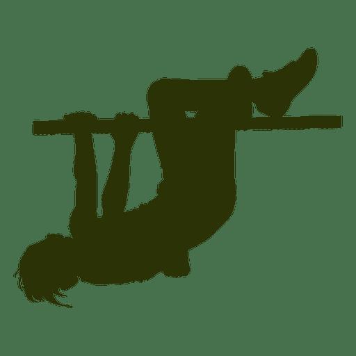 Niño colgando de un palo Transparent PNG