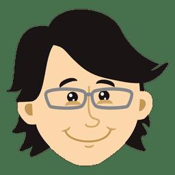 Flat boy head cartoon