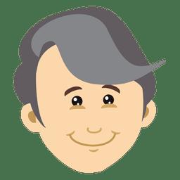 Diseño de dibujos animados de cabeza de hombre