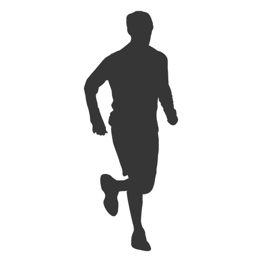 Boy jogging silhouette png