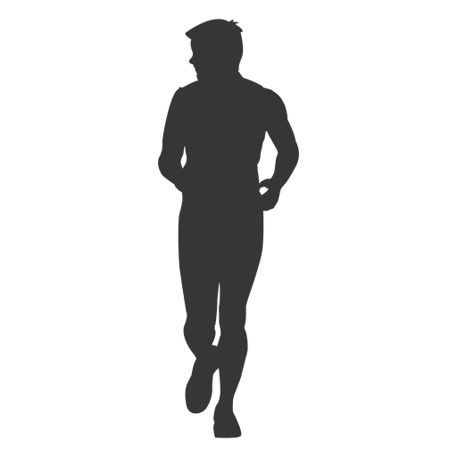 Boy jogging silhouette 1 Transparent PNG