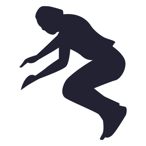 Kid Jumping silhouette Transparent PNG