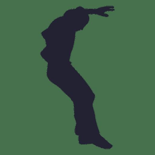 Niño saltando en su lugar silueta Transparent PNG