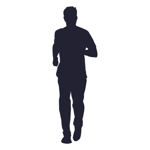 Boy marathon running silhouette - Transparent PNG & SVG vector
