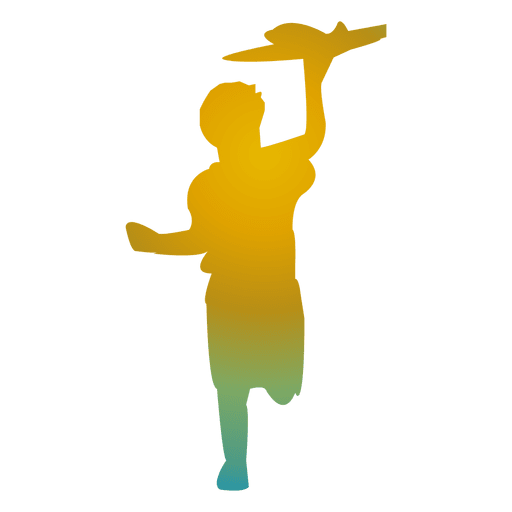 Boy playing toy silhouette Transparent PNG