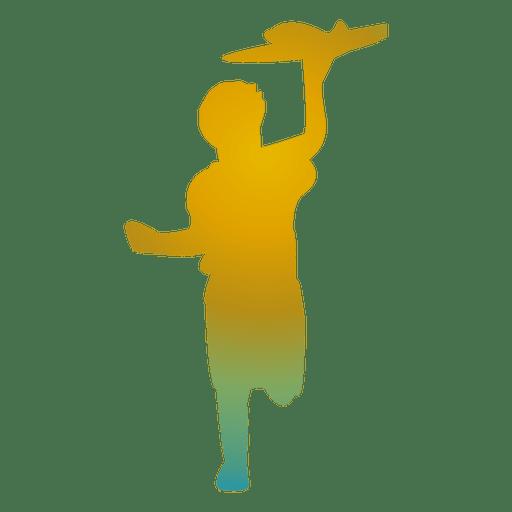 Niño jugando silueta de juguete Transparent PNG