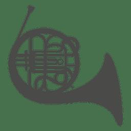 Brass horn silhouette
