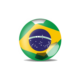 Brazil flag ball