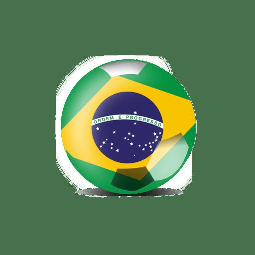 Brazil flag ball Transparent PNG