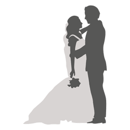Romancing Schattenbild des Brautbräutigams