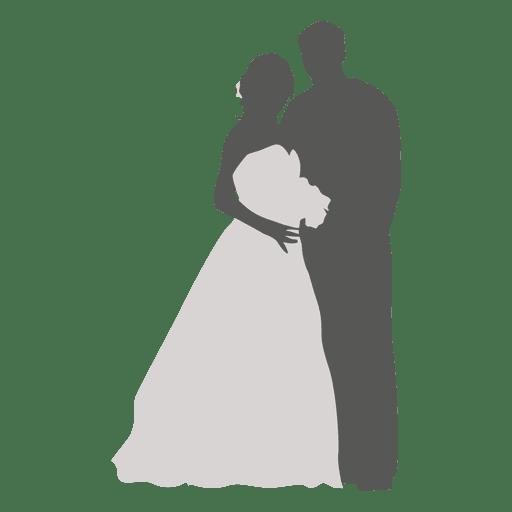 Bride groom romancing silhouette 2 Transparent PNG