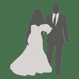 Noivo de noiva andando 2