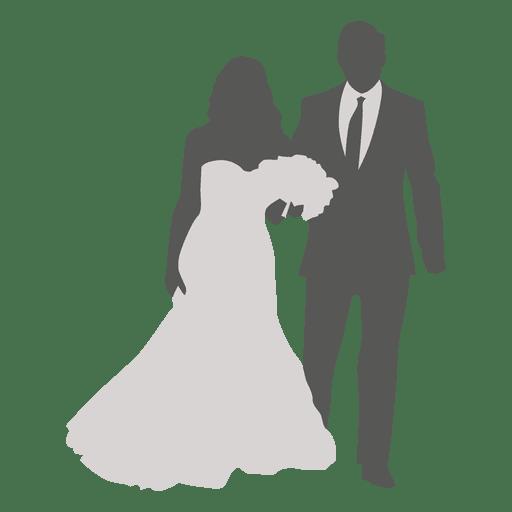 Bride groom walking 2 Transparent PNG