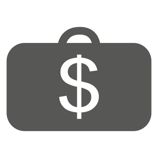 Briefcase with dollar sign icon Transparent PNG