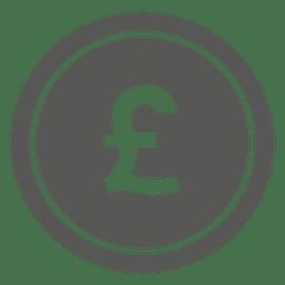 Britisches Pfund-Münze-Symbol