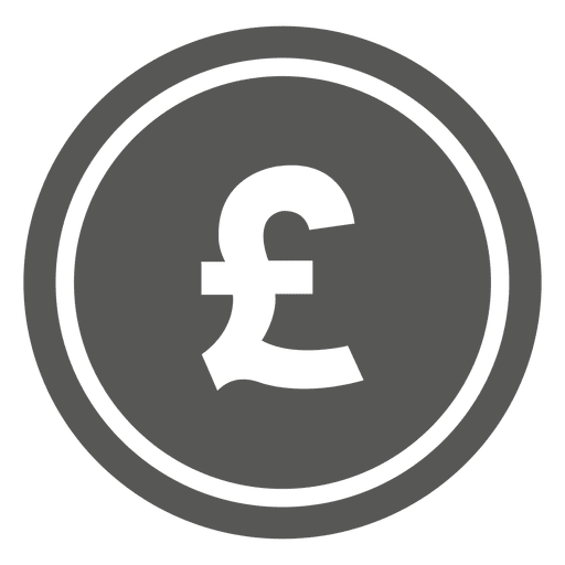British pound coin icon Transparent PNG