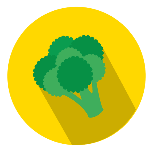 Broccoli flat circle icon Transparent PNG