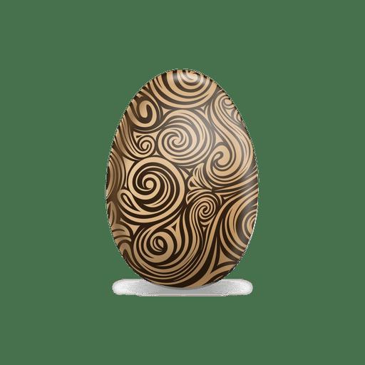 Huevo de pascua de l?neas marrones
