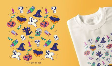 Halloween Pattern T-shirt Design
