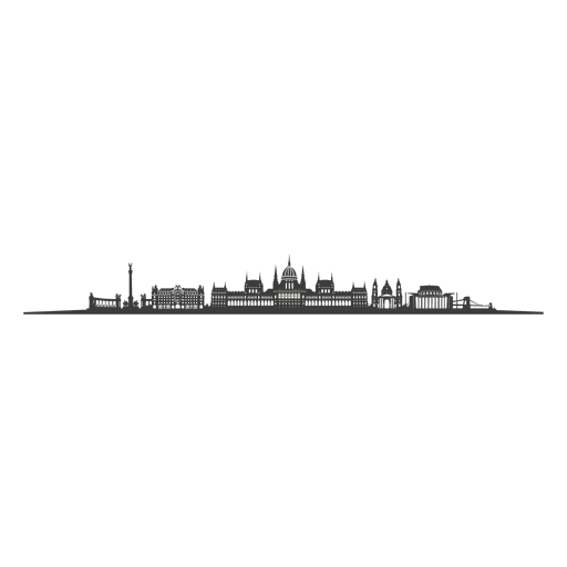 Budapest skyline silhouette Transparent PNG
