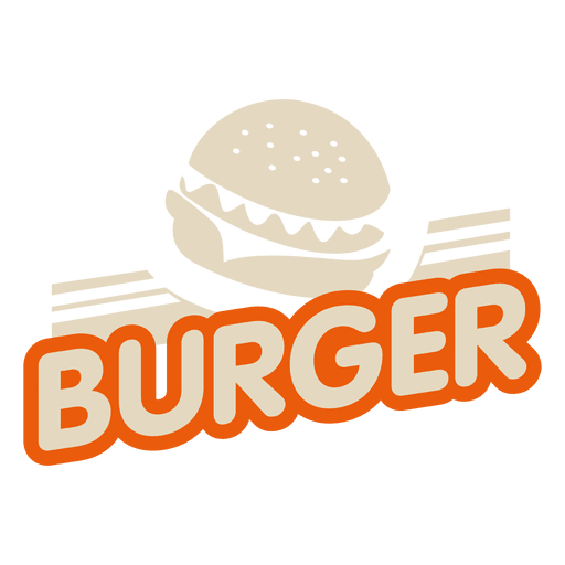 Burger logo Transparent PNG