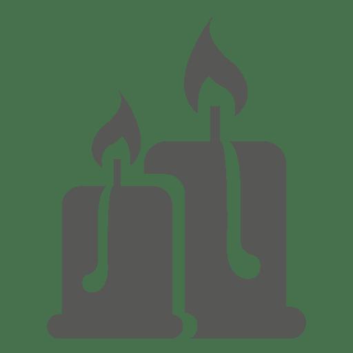 Icono de luces de vela ardiente