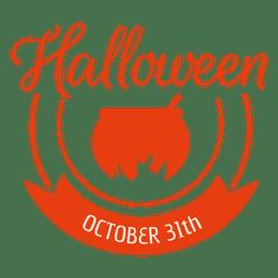 Crachá de halloween pote a arder