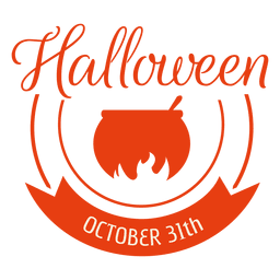 olla de la quema de Halloween insignia