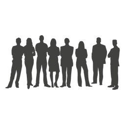 Business team silhouette