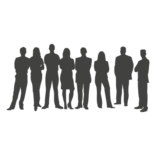 Business team silhouette - Transparent PNG & SVG vector