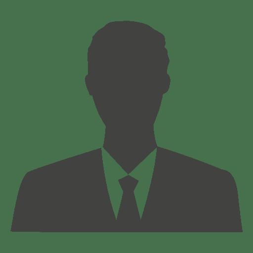 Silhueta de avatar do empresário Transparent PNG