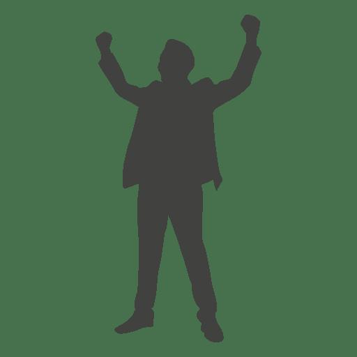 Silhueta de homem de negócios bem sucedido Transparent PNG
