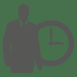 Hombre de negocios, en frente, reloj