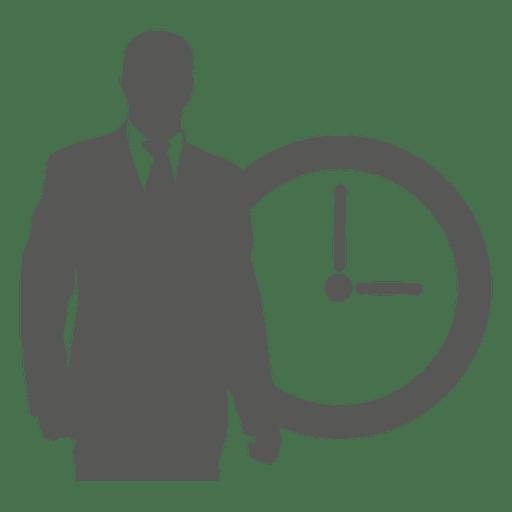 Homem negócios, em, relógio dianteiro Transparent PNG
