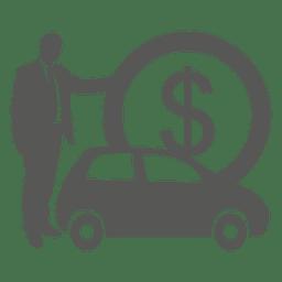 Businessman purchasing car