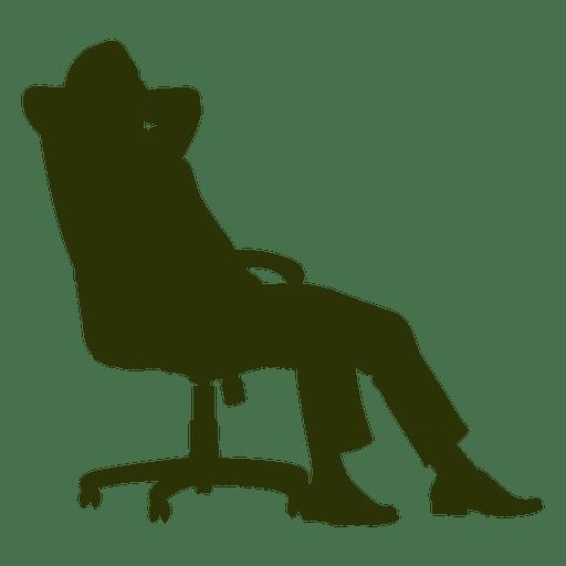 Homem negócios, relaxante, cadeira Transparent PNG