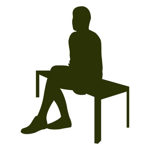 Businessman Sitting Bench Silhouette Transparent Png
