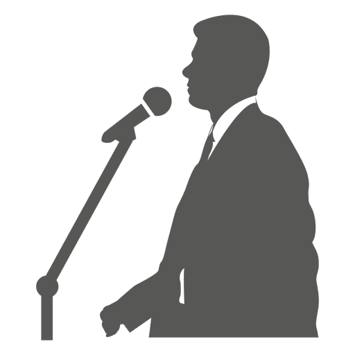 Homem negócios, falando, ligado, mic Transparent PNG