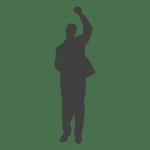 Celebração do sucesso do homem de negócios Transparent PNG