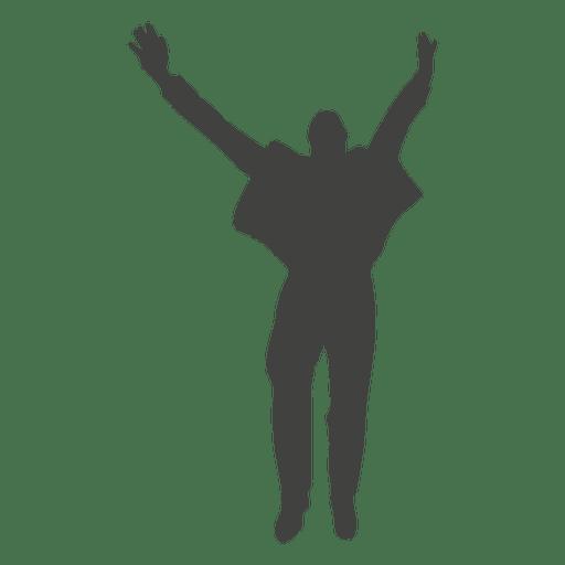 Businessman success celebration 1 Transparent PNG