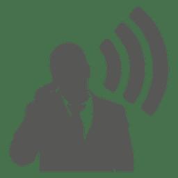 Empresário fala ícone móvel