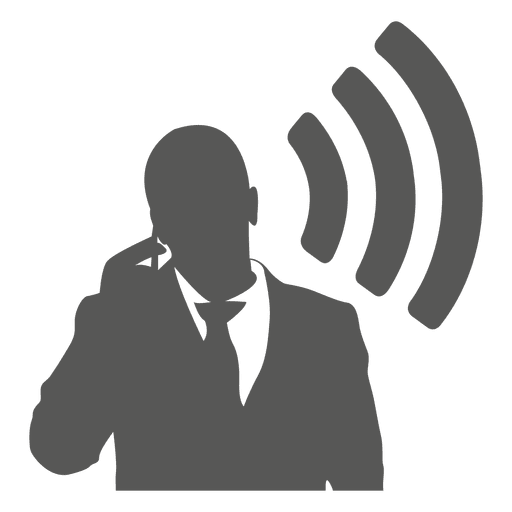 Businessman talking mobile icon