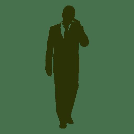 Hombre de negocios hablando telefono 4 Transparent PNG
