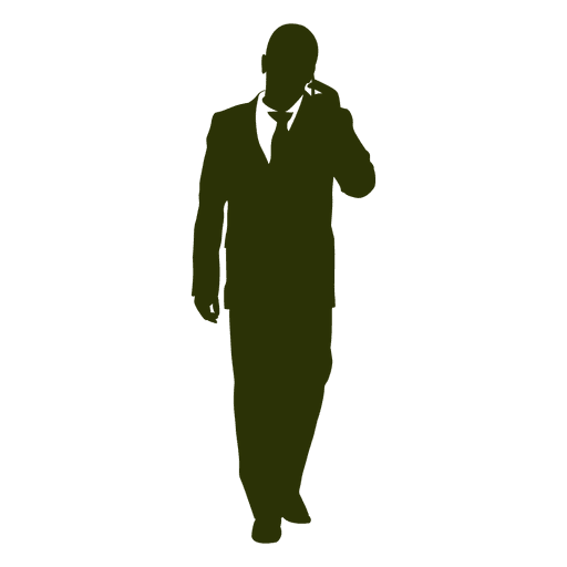 Hombre de negocios hablar teléfono 4 Transparent PNG