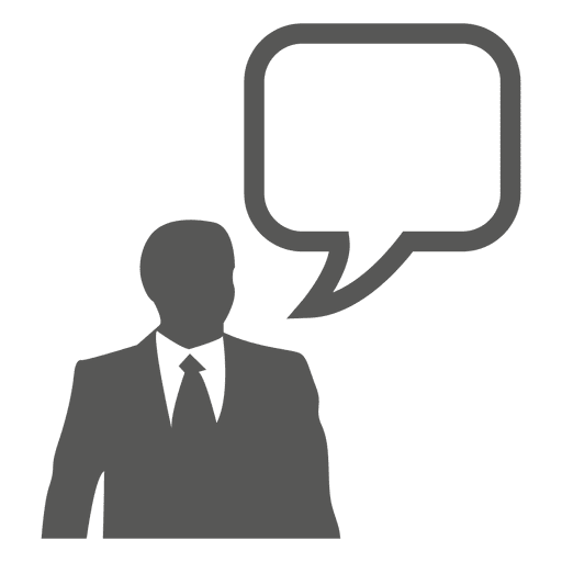 Businessman text bubble icon
