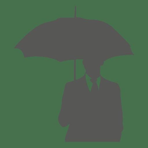 Homem negócios, sob, guarda-chuva, ícone Transparent PNG