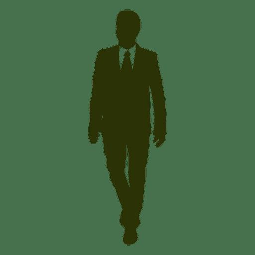 Businessman walking silhouette 3 Transparent PNG