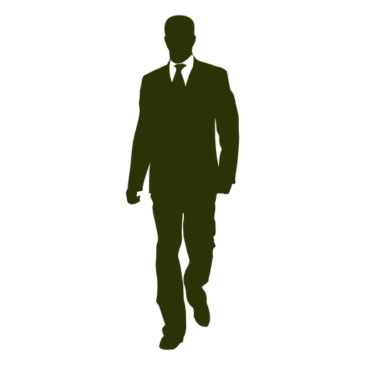 Businessman walking silhouette 4 Transparent PNG